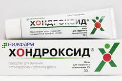 Мазь «Хондроксид» для лечения шейного остеохондроза