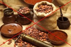 Запрет на какао и шоколад при подагре