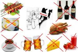 Противопоказанные блюда при подагре