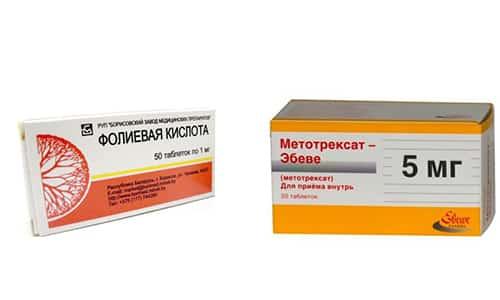Для лечения ревматоидного артрита и других аутоиммунных заболеваний применяется Метотрексат и фолиевая кислота