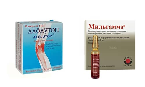 Мильгамма и Алфлутоп - препараты, применяемые для лечения заболеваний позвоночника и суставов